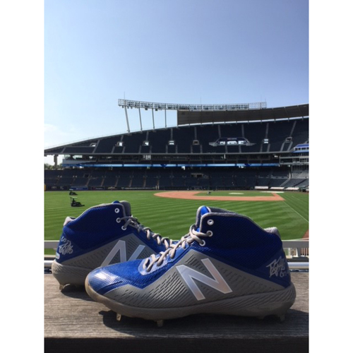 Photo of Game-Used Danny Duffy Cleats  - 7/9/18