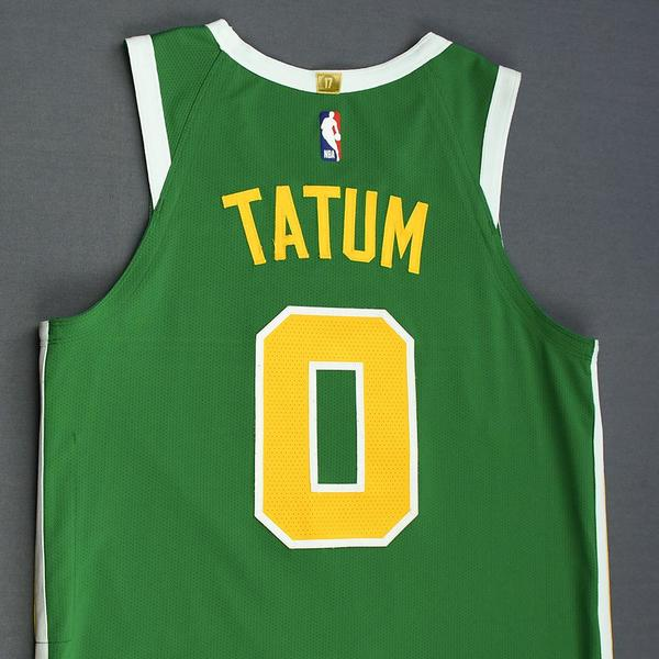 cheap for discount 31646 de96d Jayson Tatum - Boston Celtics - Christmas Day' 18 - Game ...