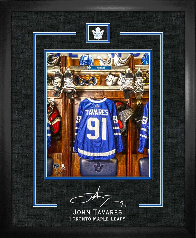 Tavares,J 10x13 Replica Signature Frame Maple Leafs Lockerroom Jersey