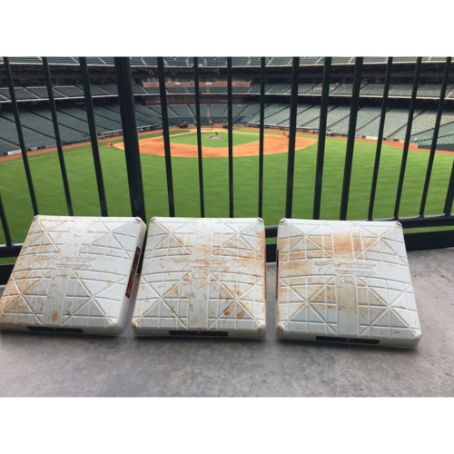 2018 ALCS Game 5 Final Set of On Field ALCS Clinching Bases