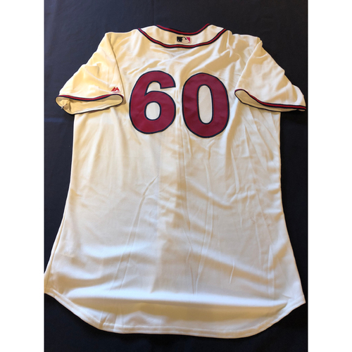 Lee Tunnell -- Game-Used 1935 Throwback Jersey and Pants -- Rangers vs. Reds on June 15, 2019 -- Jersey Size 46 / Pants Size 35-40-16
