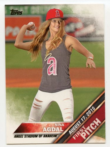 Photo of 2016 Topps First Pitch #FP5 Nina Agdal S2