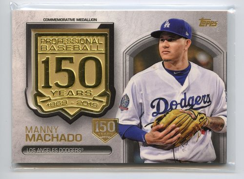 Photo of 2019 Topps 150th Anniversary Manufactured Medallions 150th Anniversary #AMMMM Manny Machado 130/150