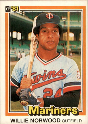 Photo of 1981 Donruss #516A Willie Norwood P1/Career Highlights/Spent mos