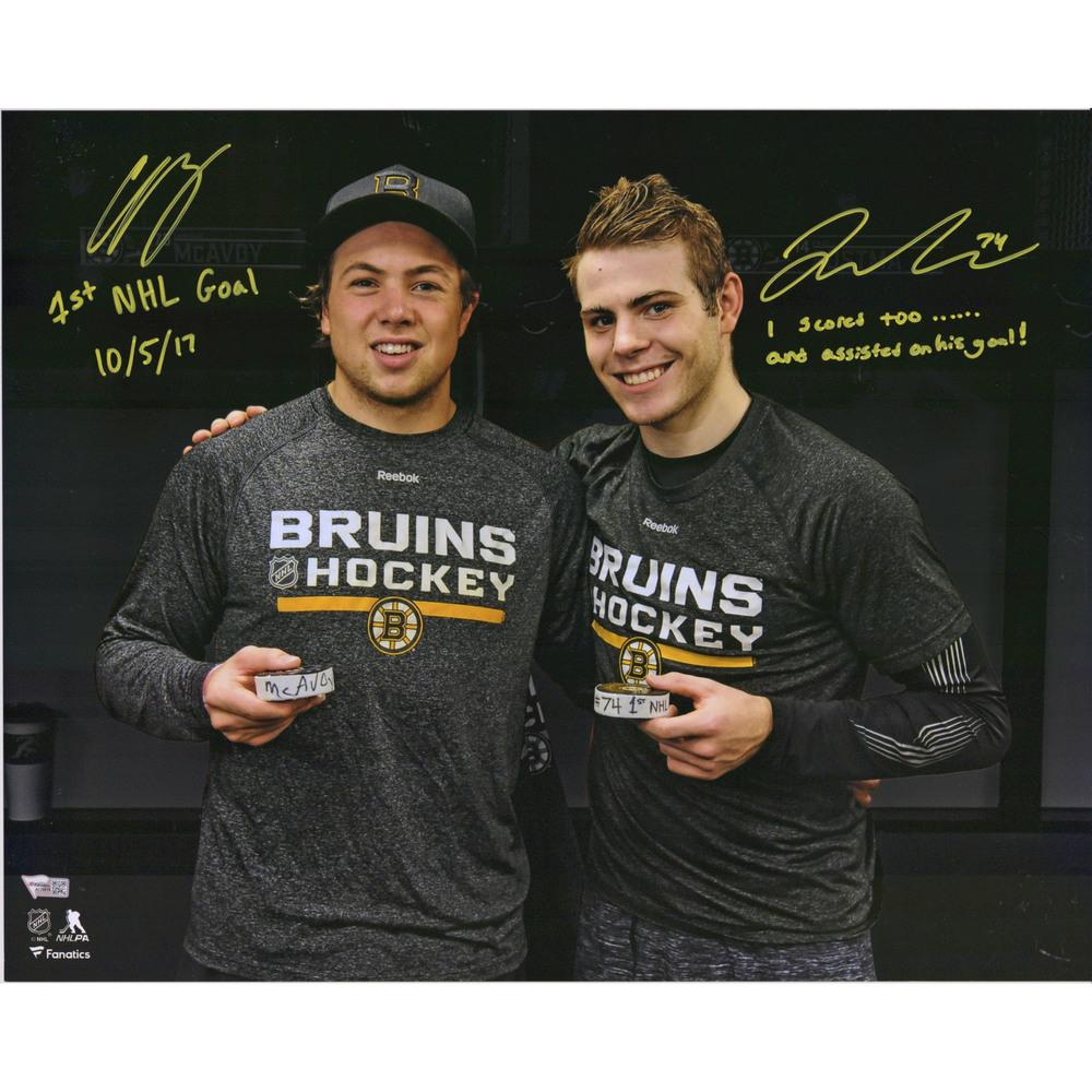 Charlie McAvoy & Jake DeBrusk Boston Bruins Autographed 16