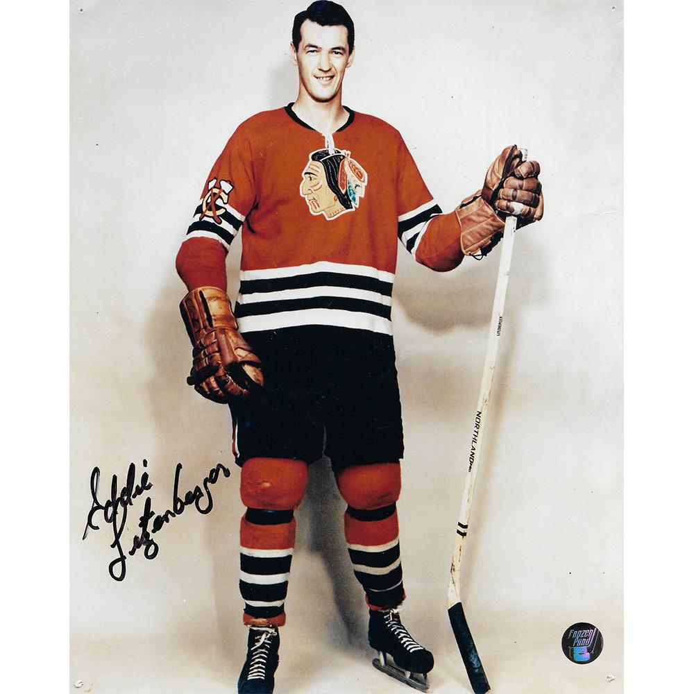 Eddie Litzenberger Autographed Chicago Blackhawks 8X10 Photo