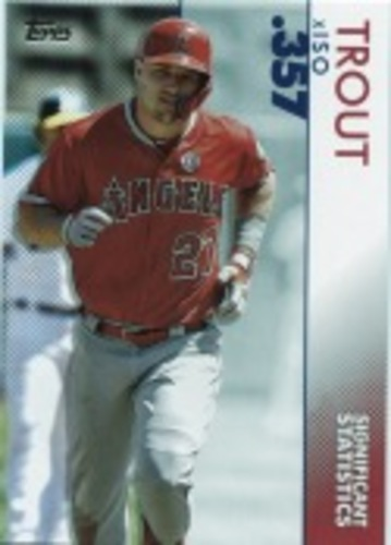 Photo of 2020 Topps Significant Statistics #SS4 Mike Trout