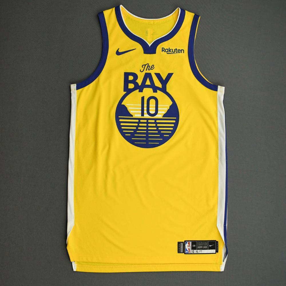 Jacob Evans III - Golden State Warriors - Game-Worn Statement Edition Jersey - 2019-20 NBA Season
