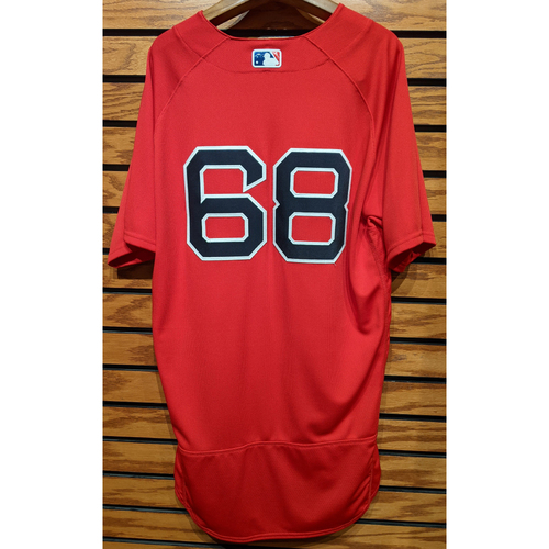 Photo of Jalen Beeks #68 Red Home Alternate Team Issued Jersey