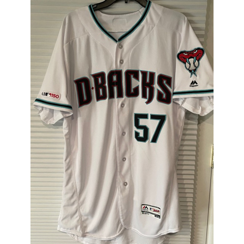 Photo of Arizona Diamondbacks Top 20 Prospect Jon Duplantier 2019 Team-Issued Home Alternate Jersey (Size 46)