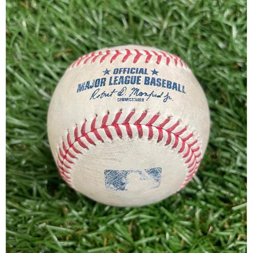Photo of Game Used Baseball: Kevin Kiermaier single off Jake Junis - Bottom 4 - May 27, 2021 v KC