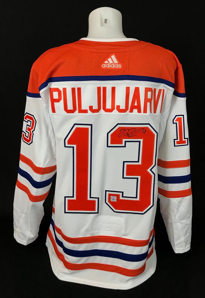 Jesse Puljujarvi #13 - Autographed Edmonton Oilers Reverse Retro Adidas Retail Pro Authentic Alternate Jersey