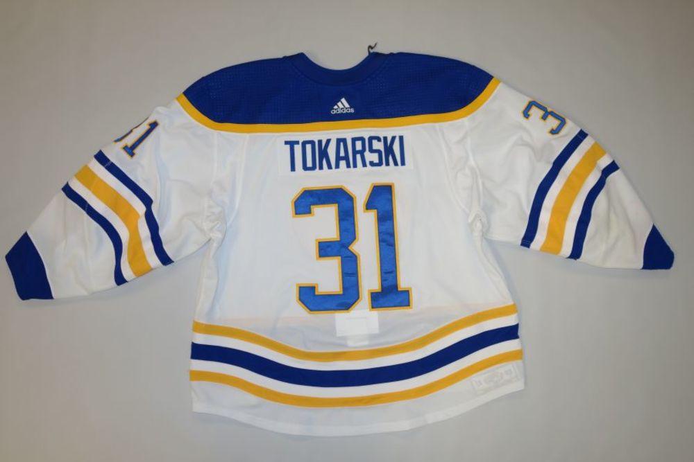 Dustin Tokarski 2020-21 Buffalo Sabres Set 2 Away Jersey