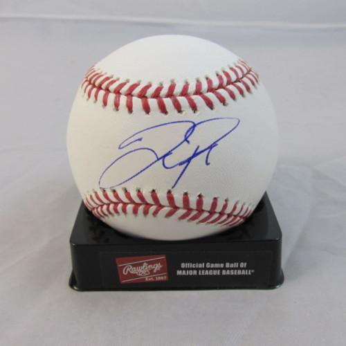 Joc Pederson Autographed Baseball