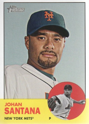 Photo of 2012 Topps Heritage #93 Johan Santana
