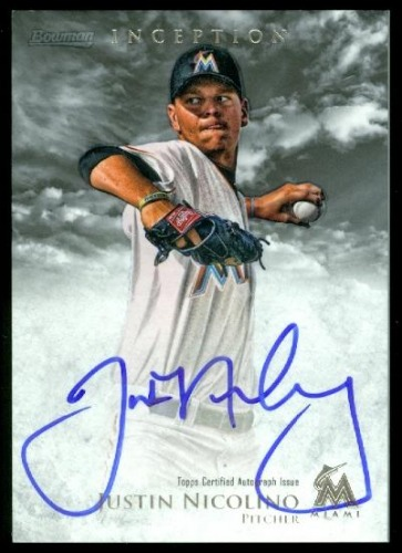 Photo of 2013 Bowman Inception Prospect Autographs #JN Justin Nicolino