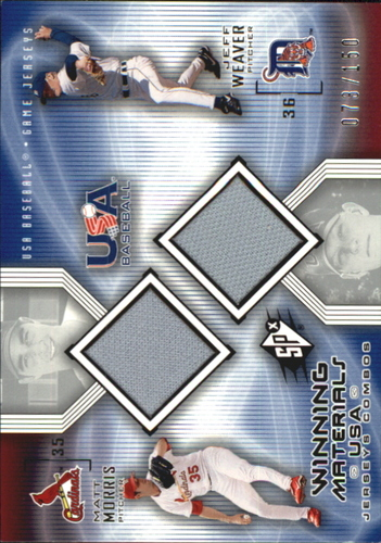 Photo of 2002 SPx Winning Materials USA Jersey Combos #USAMW Matt Morris/Jeff Weaver