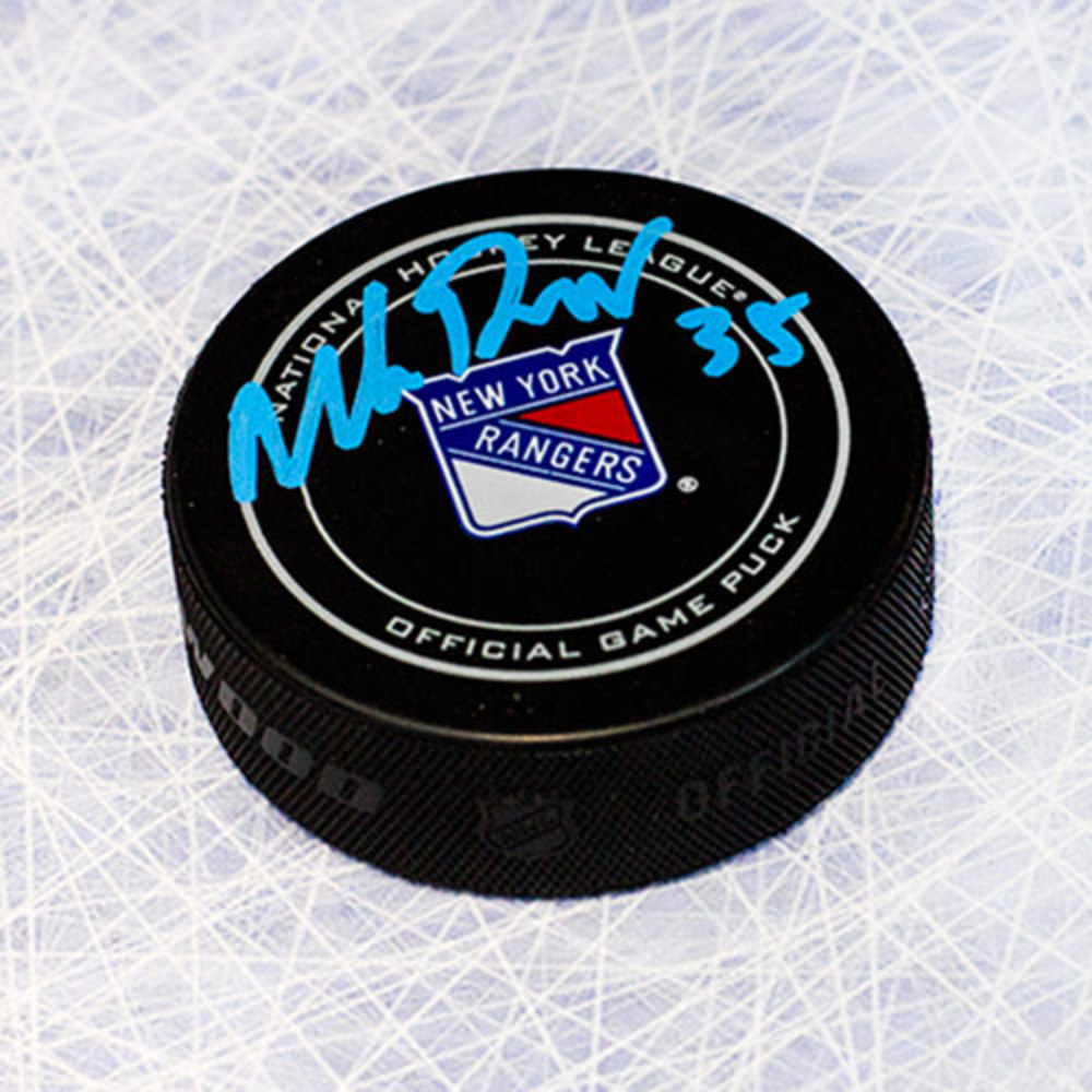 Mike Richter New York Rangers Autographed Official Game Puck