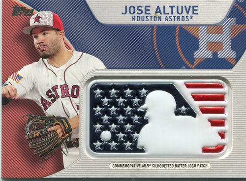 Photo of 2017 Topps Independence Day MLB Logo Patch #IDMLJAL Jose Altuve