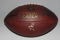 CRUCIAL CATCH - CHARGERS GAME USED FOOTBALL W/ CHARGERS LOGO STAMP (OCTOBER 8