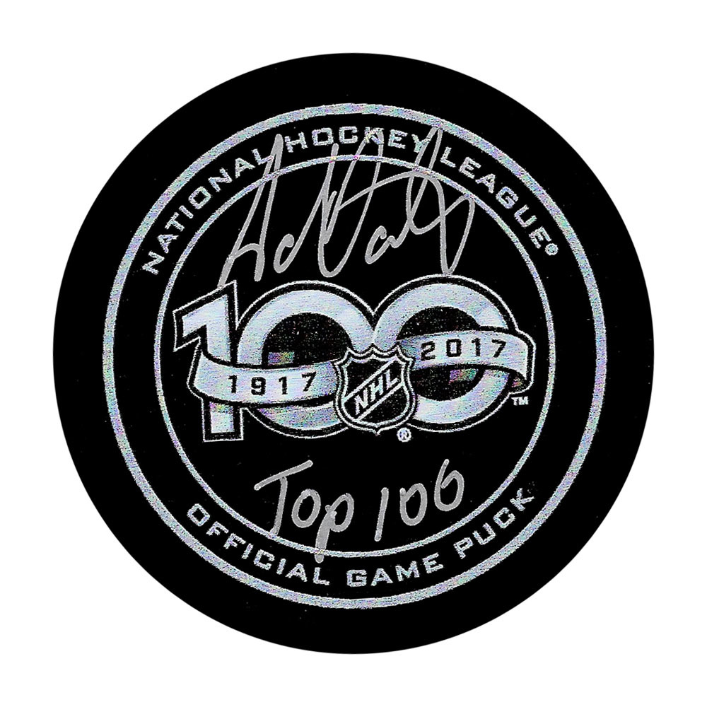 Adam Oates Autographed NHL 100th Anniversary Official Game Puck