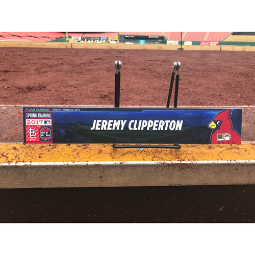 Photo of Cardinals Authentics: Jeremy Clipperton Team-Issued Spring Training Locker Tag