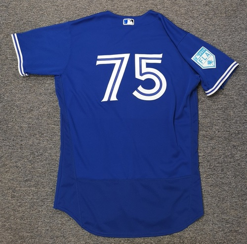 Photo of Authenticated Game Used 2019 Spring Training Jersey - #75 Josh Palacios (Mar 26: 1-for-1). Size 46