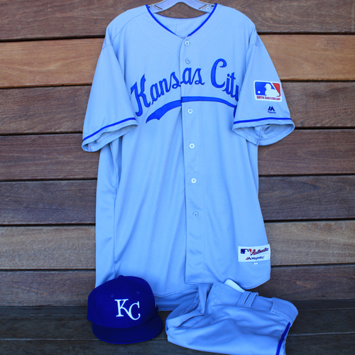 Photo of Game-Used 1969 Throwback Jersey, Pants and Cap: Jakob Junis (Jersey Size 48 - KC @ WSH  - 7/6/19)