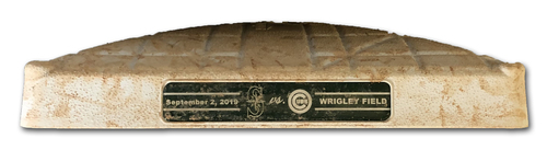 Photo of Game-Used 1st Base -- Used Innings 1 through 4 -- 9/2/19 -- Mariners vs. Cubs