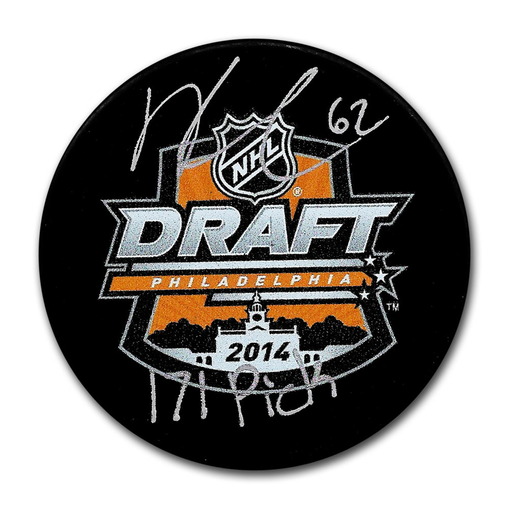 Kevin Labanc Autographed 2014 NHL Entry Draft Puck w/171 PICK Inscription