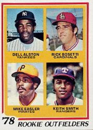 Photo of 1978 Topps #710 Rookie Outfielders/Dell Alston RC/Rick Bosetti RC/Mike Easler RC/Keith Smith RC