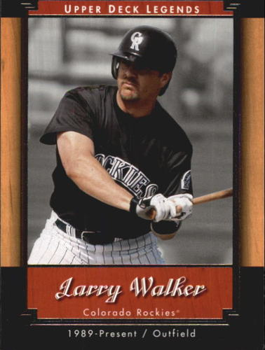 Photo of 2001 Upper Deck Legends #89 Larry Walker