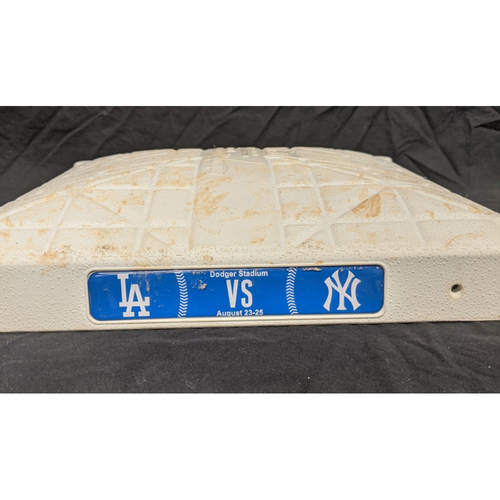 Photo of Game-Used 2nd Base August 25th 2019 New York Yankees at Los Angeles Dodgers