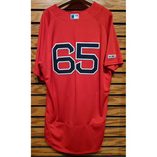#65 Red Home Alternate Team Issued Jersey