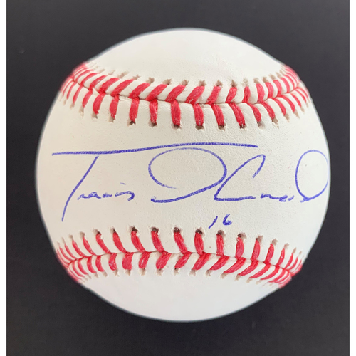 Photo of Travis d'Arnaud MLB Authenticated Autographed Baseball