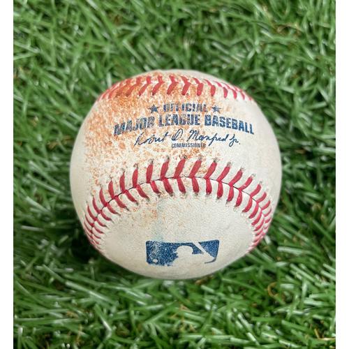 Photo of Game Used Baseball: Salvador Perez strikeout and Jarrod Dyson single off Collin McHugh - Top 9 - May 27, 2021 - KC
