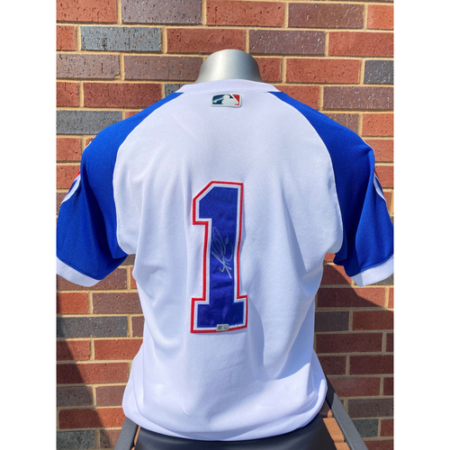 Photo of Ozzie Albies MLB Authenticated, Autographed (Team-Issued or Game-Used) 1974 Style Jersey
