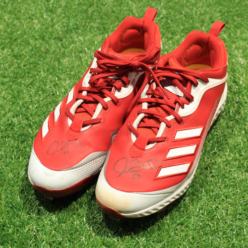 Photo of Game-Used & Autographed Cleats: Jake Brentz #59 (DET @ KC 5/23/21) - Size 13