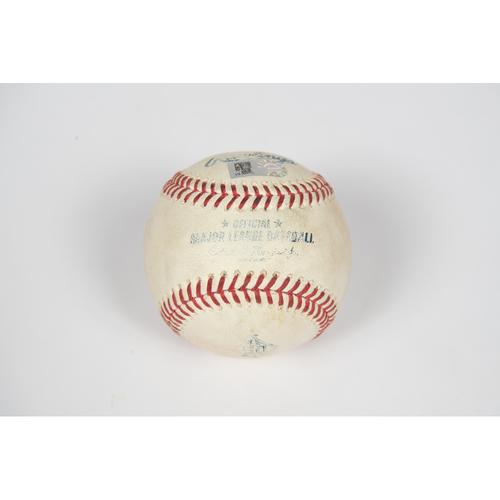 Photo of Game-Used Baseball - 8/10/21 vs. TOR - Shohei Ohtani Triple