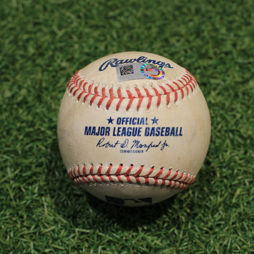 Photo of Game-Used Baseball: Jose Trevino 55th Career Hit (TEX@KC 4/1/21)