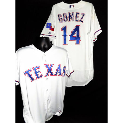 Photo of 2017 Carlos Gomez White Game-Used Jersey