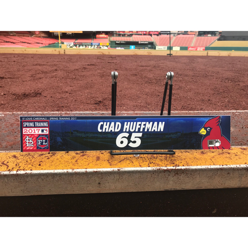 Photo of Cardinals Authentics: Chad Huffman Team-Issued Spring Training Locker Tag