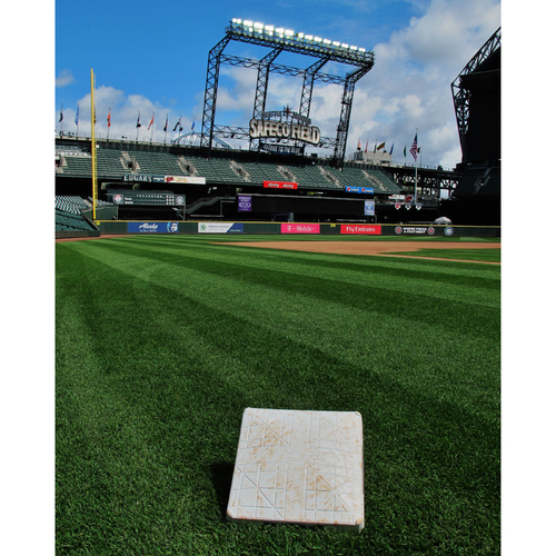 Photo of Game-Used 3rd Base (Innings 1-6) From the Albert Pujols 3000 Hit Game - Mariners vs Angels - 5/4/2018