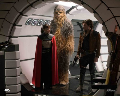 Beckett, Qi'Ra and Chewbacca