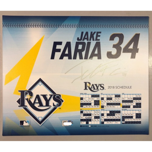 Photo of Game-Used Autographed Locker Tag: Jake Faria