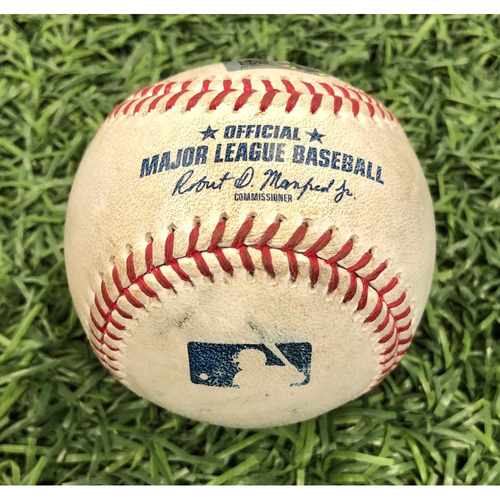 Photo of Game Used Baseball: Brandon Lowe strikeout & Mike Zunino 2RBI double off Evan Phillips - April 18, 2019 v BAL