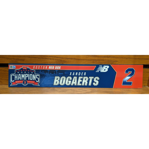 Photo of Xander Bogaerts Game Used Locker Tag