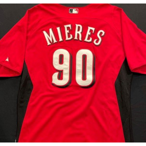 Photo of MIERES -- Authentic Reds Jersey -- $1 Jersey Auction -- $5 Shipping -- Size 46 (Not MLB Authenticated)