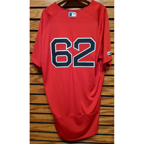 Photo of Durbin Feltman #62 Red Home Alternate Team Issued Jersey