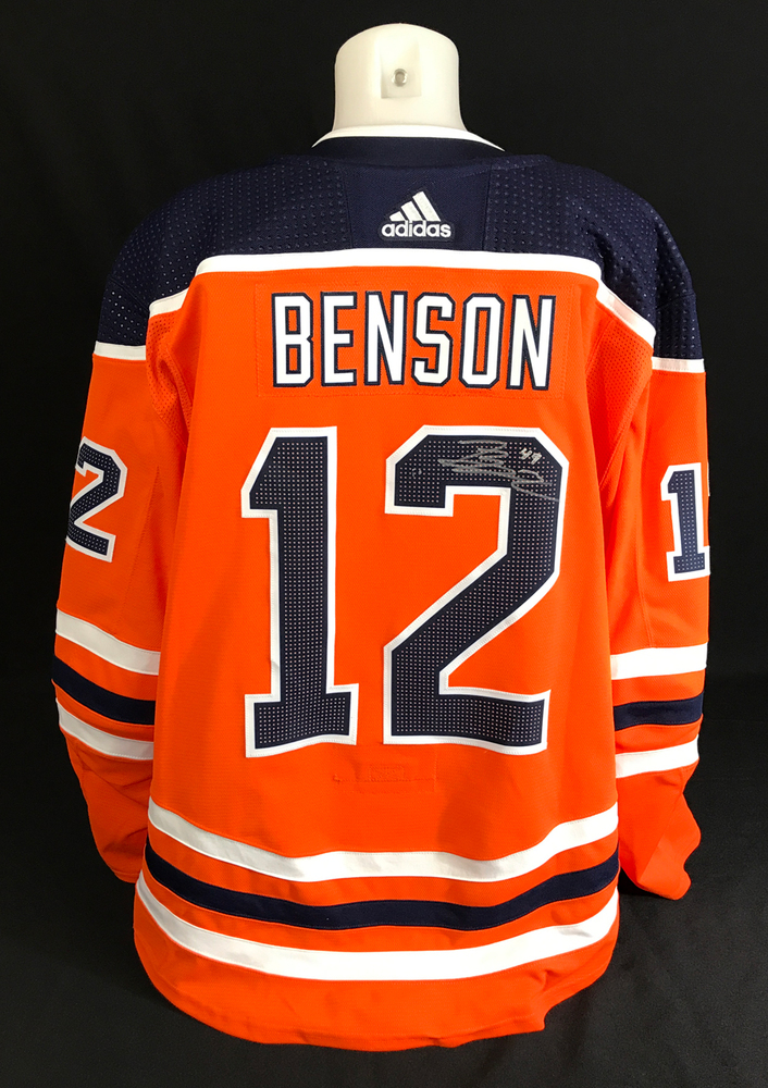 Tyler Benson - Autographed Edmonton Oilers Intersquad Game Worn Colby Cave Tribute Jersey